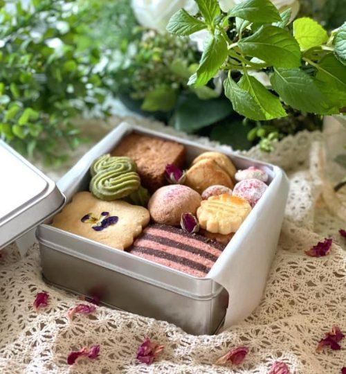 ハーブ&お花が香る クッキー缶作り